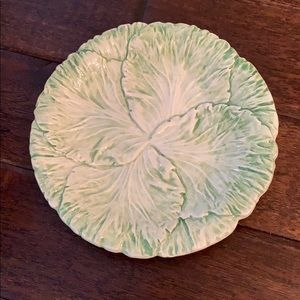 Green Lettuce Cabbage Leaf 🥬 7 inch plate